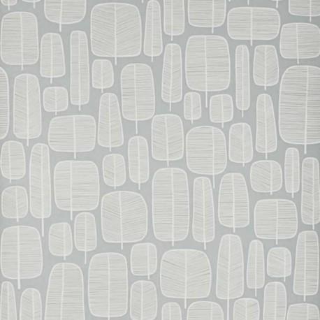 Little Trees Fog Grey Wallpaper