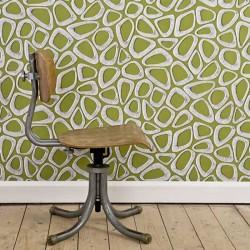 Pebbles Cricket Green Wallpaper