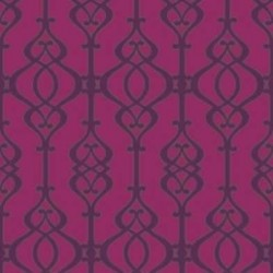 Balustrade Claret Wallpaper