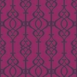 Balustrade Claret Wallpaper
