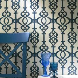 Balustrade Sapphire Wallpaper