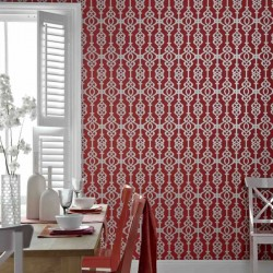 Balustrade Spice Red Wallpaper