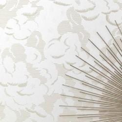 Silver Lining Vanilla Wallpaper