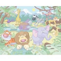 Walltastic Baby Jungle Safari Mural