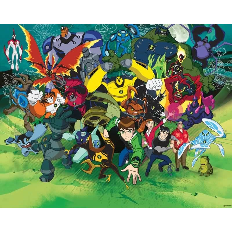 Walltastic Graffiti Wallpaper Mural: Walltastic Ben 10 Ultimate Alien Wall Mural, Kids Wall Murals