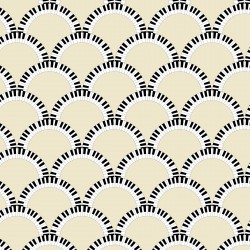 Jazz Age Cream Art Deco Wallpaper