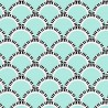 Jazz Age Turquoise Wallpaper
