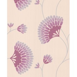 Charm Pink Cream Grey Wallpaper