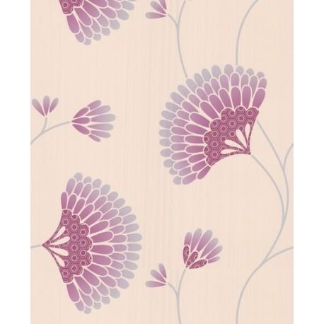 Charm Pink Cream Grey Wallpaper
