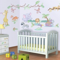 Baby Jungle Safari Room Décor Kit