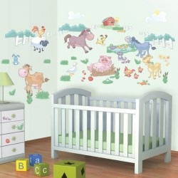 Baby Fun on the Farm Room Décor Kit