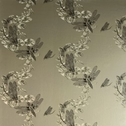 Dragonfly Pewter Wallpaper