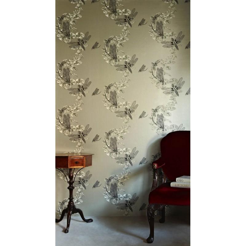 Dragonfly Pewter Wallpaper, Barneby Gates Wallpaper ...