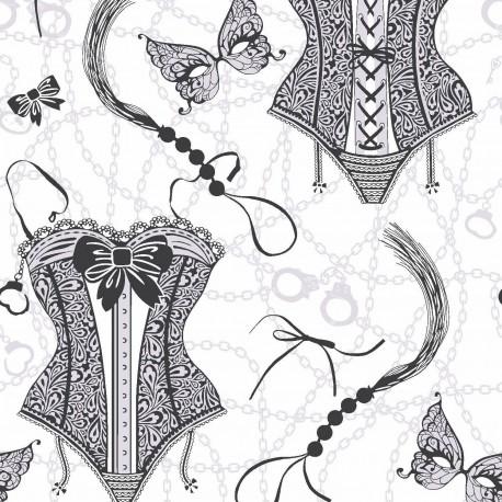 Nicole Black & White Wallpaper