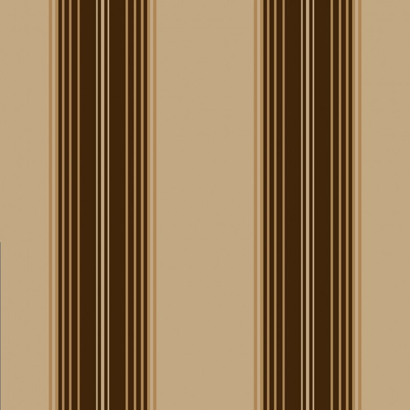 Brown and gold striped wallpaper