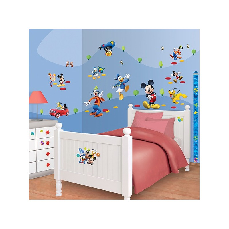Walltastic disney mickey mouse clubhouse 41448 wall stickers - Mickey mouse clubhouse bedroom decor ...