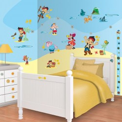 Walltastic Disney Jake Netherland Pirates Room Décor Kit