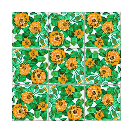 Daisy Tiles Wallpaper