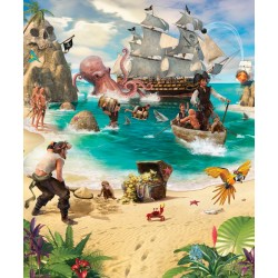 Walltastic Pirate and Treasure Adventure Mural
