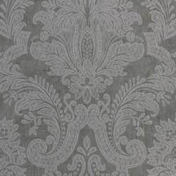 Equus Silver on Graphite Grey Wallpaper