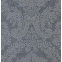 Equus Silver on Midnight Blue Wallpaper