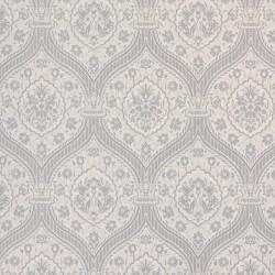 Otoman Silver on Ivory Cream Wallpaper