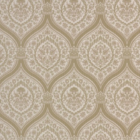 Otoman Golden Bronze on Cream Wallpaper