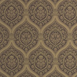 Otoman Brown & Gold Bronze Wallpaper