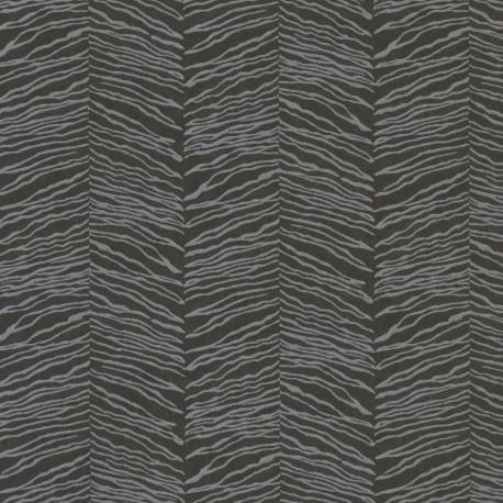 Esqueje Zebra Black & Silver Wallpaper