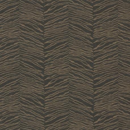 Esqueje Zebra Black & Golden Bronze Wallpaper