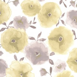 Poppies Green Wallpaper